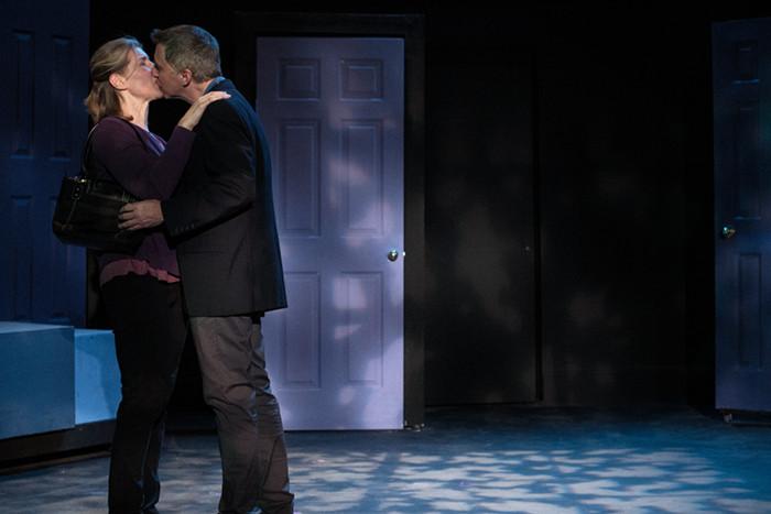 Janie and Brian Kiss