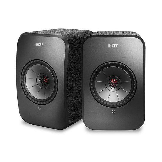 KEF LSX Lautsprecher, schwarz