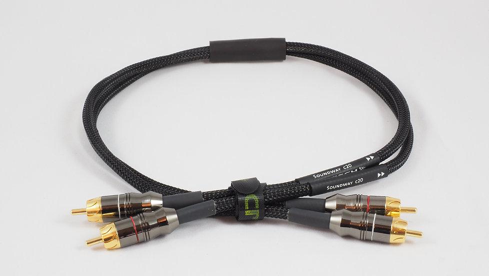 Soundway C20 Cinch Kabel, 0.7m