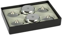 Audio Selection Spike + Disc groß 4er Set silber