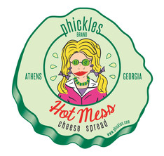 Phickles Pickles Hot Mess Label Logo