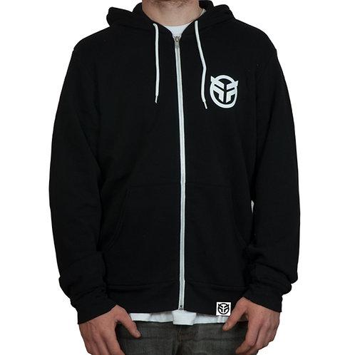 Logo Zip Hooded Sweatshirt