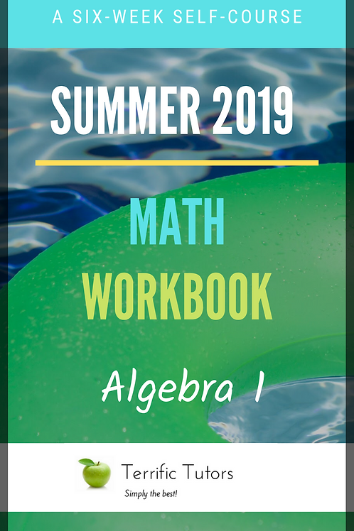 Summer 2019 Algebra I Workbook (Digital Download)