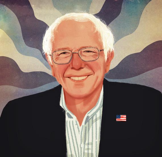 Bernie Sanders-Victoria Borges- art -design- illustration