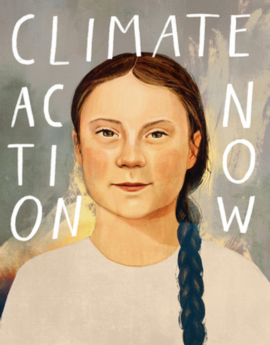 Victoria-Borges-Art-Illustration-Greta Thunberg-Climate change