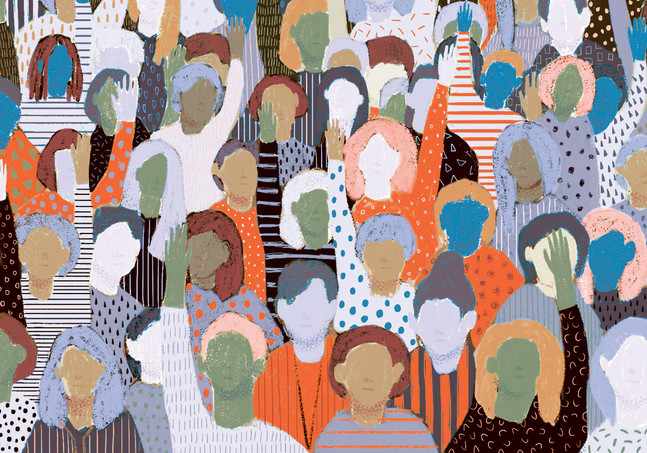 Victoria-Borges-art-illustration-students-people-crowd
