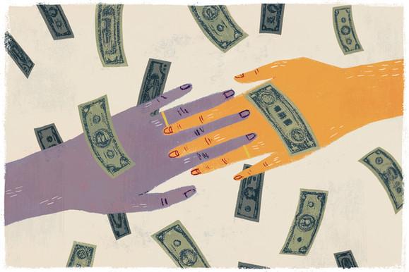 Victoria-Borges-art-illustration-money-wedding-finance-marriage