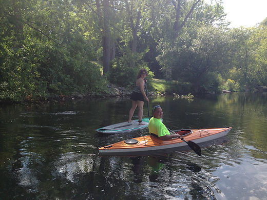Kajak and Paddleboard on Platte River Honor Benzie Michigan