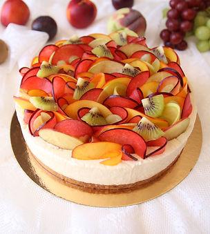 עוגת גבינה- פירות- וניל