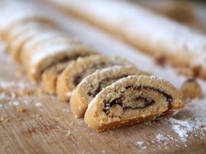 עוגיות מגולגלות- בוטנים ונוגט