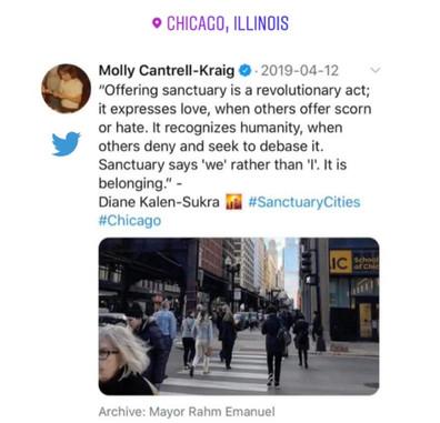 Offering Sanctuary - Chicago - Diane Kal