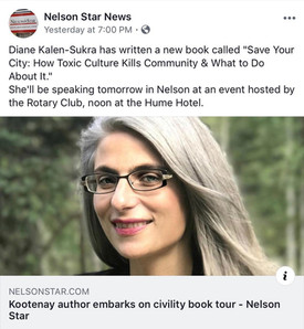 Nelson Star - Save Your City book tour -