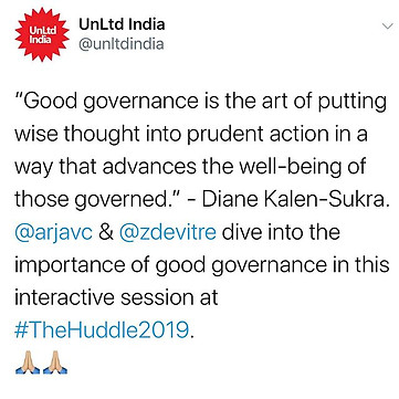 #Goodgovernance is the key to sustainabl