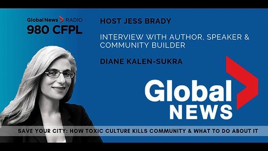 Global News interview author Diane Kalen-Sukra