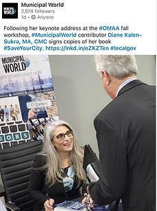 Book Signing - Diane Kalen-Sukra - Save Your City