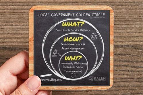 Coaster | Local Government Golden Circle - Set of 6