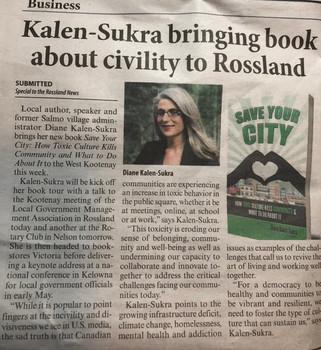 Diane Kalen-Sukra bringing book about ci