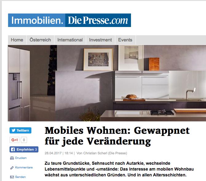 """Artikel über Julians RaumManufaktur, Julian Fischer von Christian Scherl, """"Die Presse"""""""