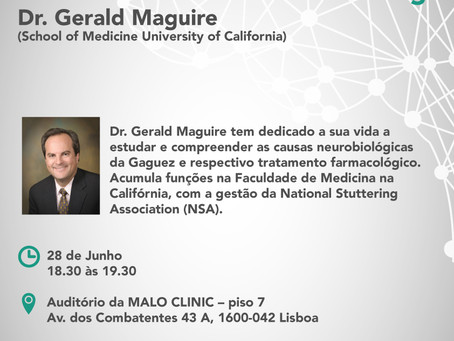 Palestra: The Biological Basis and Medical Treatment of Stuttering - Dr. Gerald Maguire (EUA)