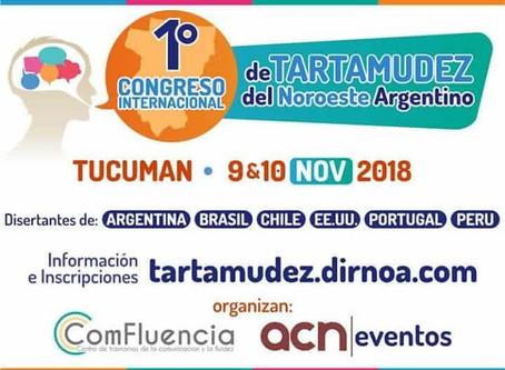 Argentina - CTGaguez apoia a organização do PRIMER CONGRESO INTERNACIONAL DE TARTAMUDEZ DEL Noroeste