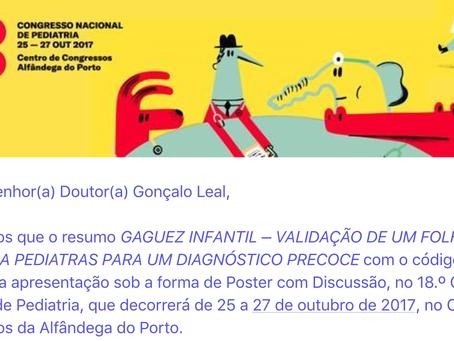 18º Congresso Nacional de Pediatria com a presença do CT-Gaguez