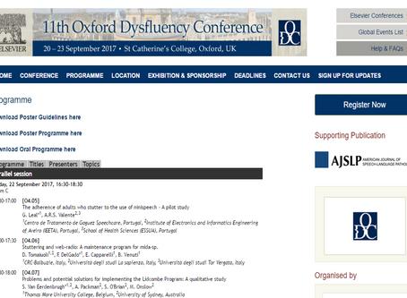 CTGaguez apresenta na Oxford Dysfluency Conference 2017.