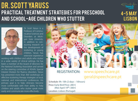 Dr. Scott Yaruss (Lisbon, 4-5 May) - Practical Treatment Strategies for Children who Stutter
