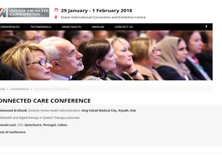 Dubai - Arab Health Congress - TF Gonçalo Leal convidado a integrar o programa da  CONNECTED CARE CO