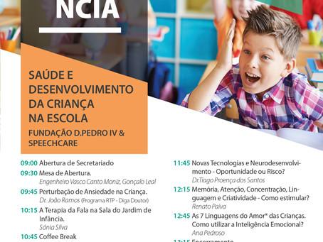 SpeechCare e Fundação D. Pedro IV realizam II Conf. Saúde e Desenvolvimento da Criança na Escola