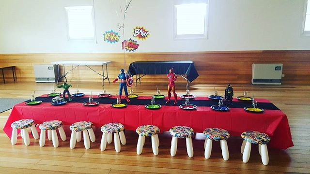 Our superhero party today 👌__#superheroparty #birthdayboy #gtown #hiregeelong #$10perhead