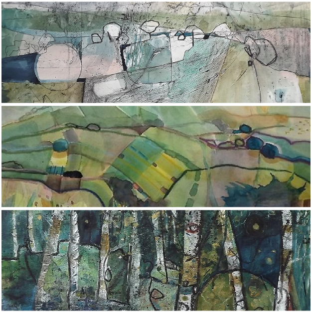 At the A2 Contemporary Gallery, Wells, Somerset. On show from 2nd November until 16th November. Large watercolour and mixed media paintings.