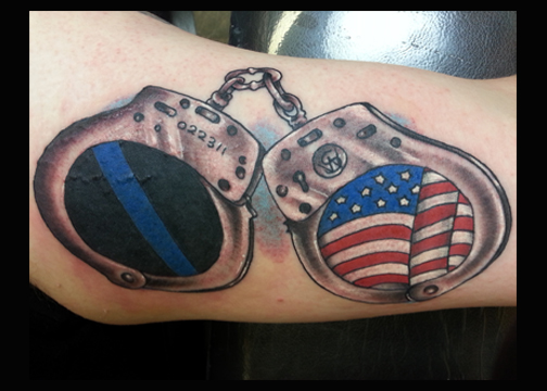 Handcuff tattoo