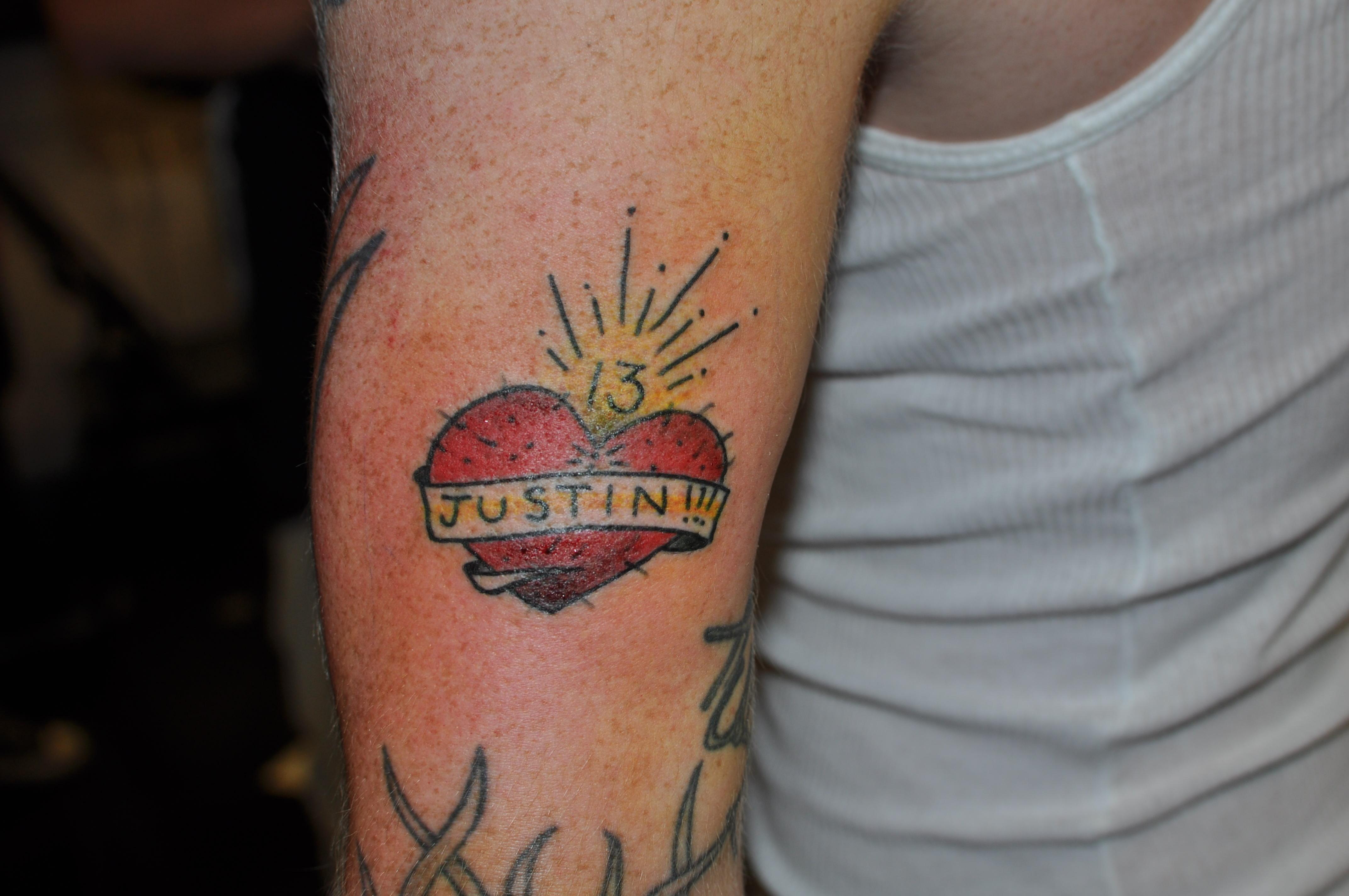justin tattoo