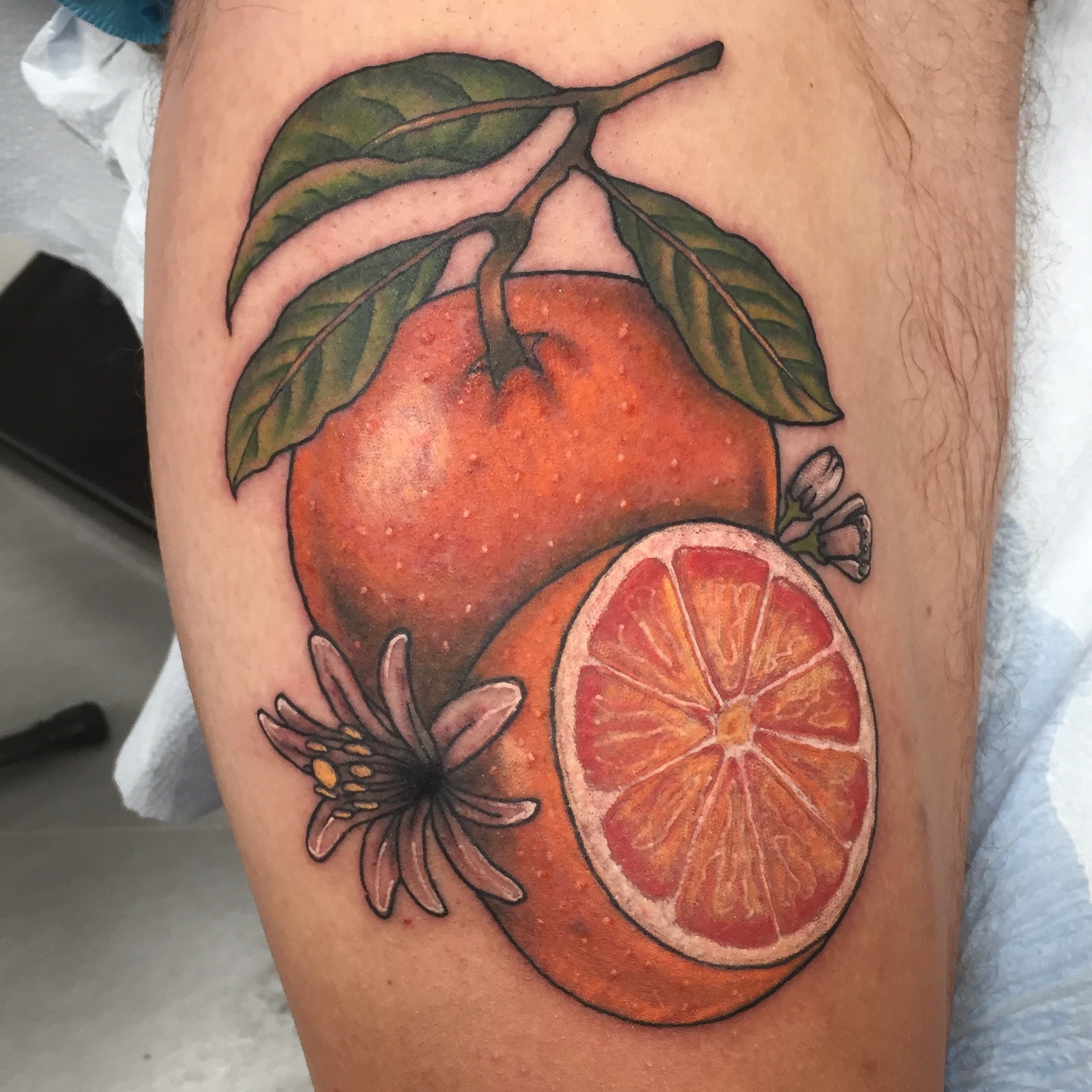 orange tattoo