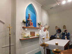 santa fe shrine of our lady leche