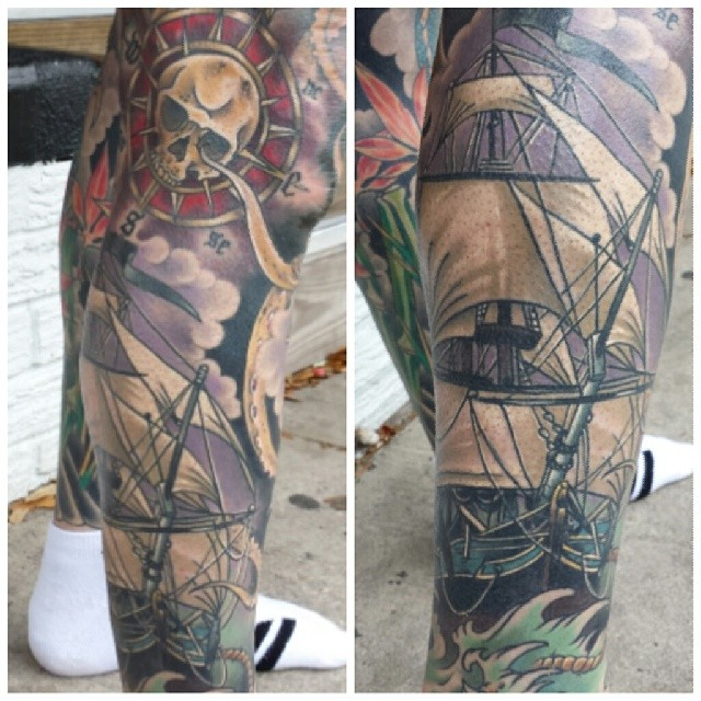 Davie Jones tattoo