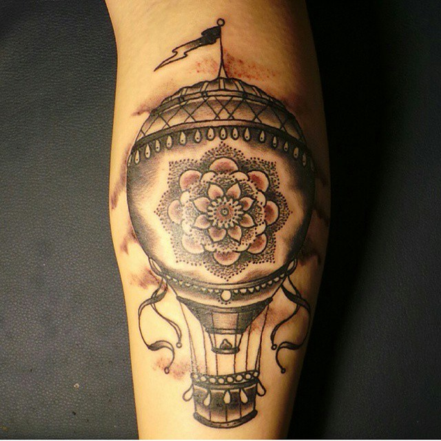 Hot air balloon tattoo