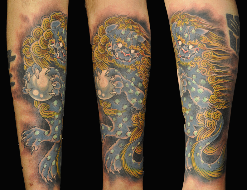 Foo Dog tattoo