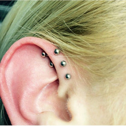 Instagram - Triple daith (forward helix) by Justin