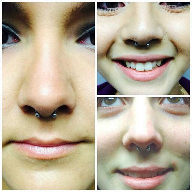 Some septums piercings