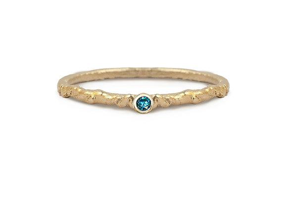 Blue Diamond Moss Ring