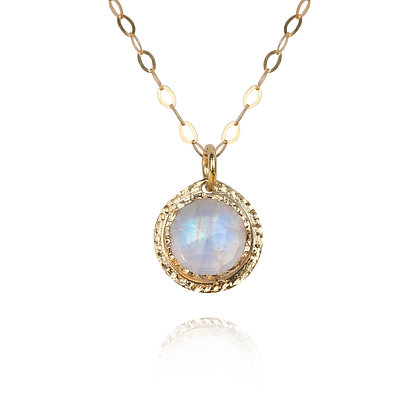 Gold and Moonstone Necklace