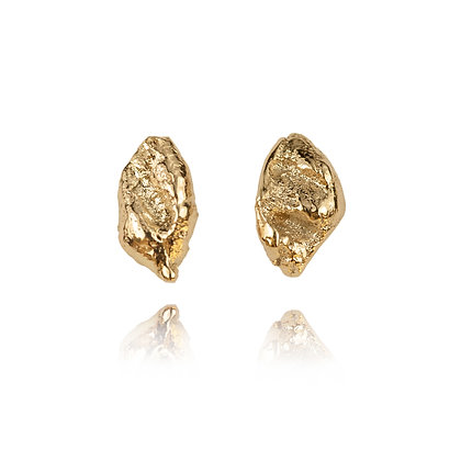Raw Gold Earrings