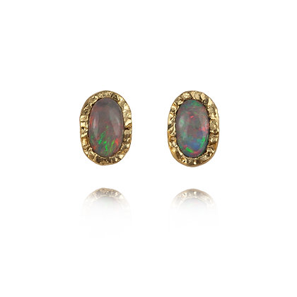 Black Opal Earrings