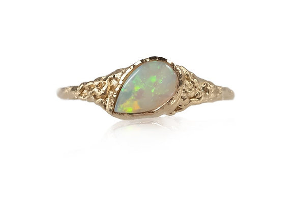 Opal and Gold Statement Ring