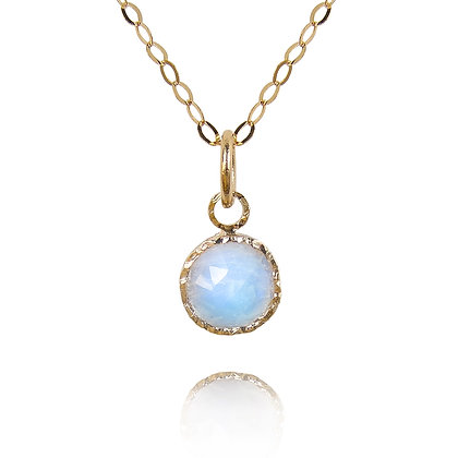 Moonstone and Gold Statement necklace