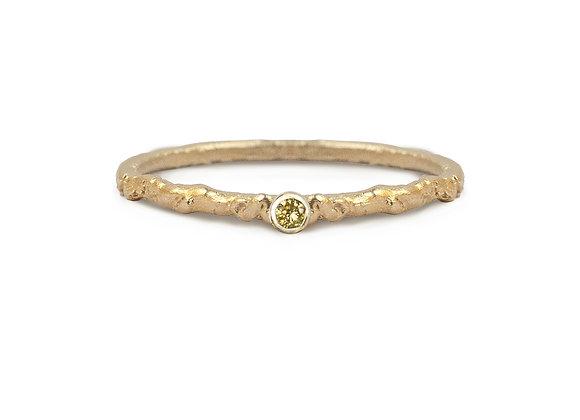 Yellow Diamond Moss Ring