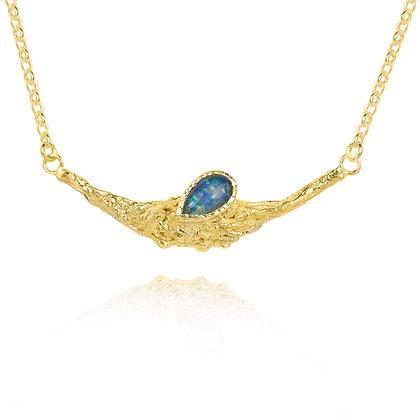 Black Opal Twig Necklace