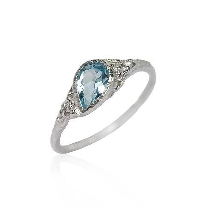 Blue Topaz Statement Ring
