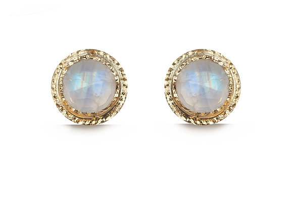 Moonstone and Gold earrings